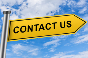 contact us sign image