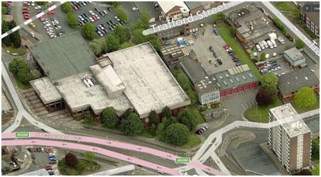 Northgate Arena Aerial View